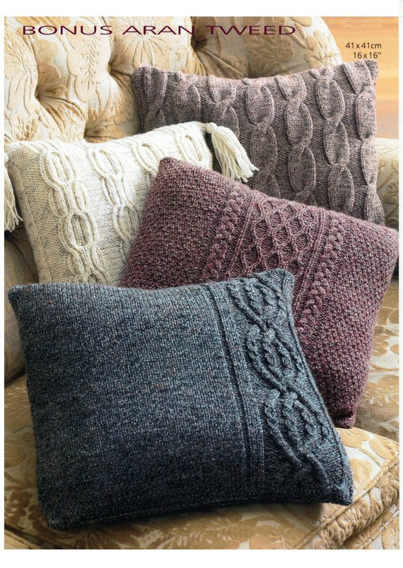 Luxury Vintage Aran Cushion Cover Set Knitting Pattern Digital Knit Pillow Cover Pattern Of Amazing 45 Pics Knit Pillow Cover Pattern
