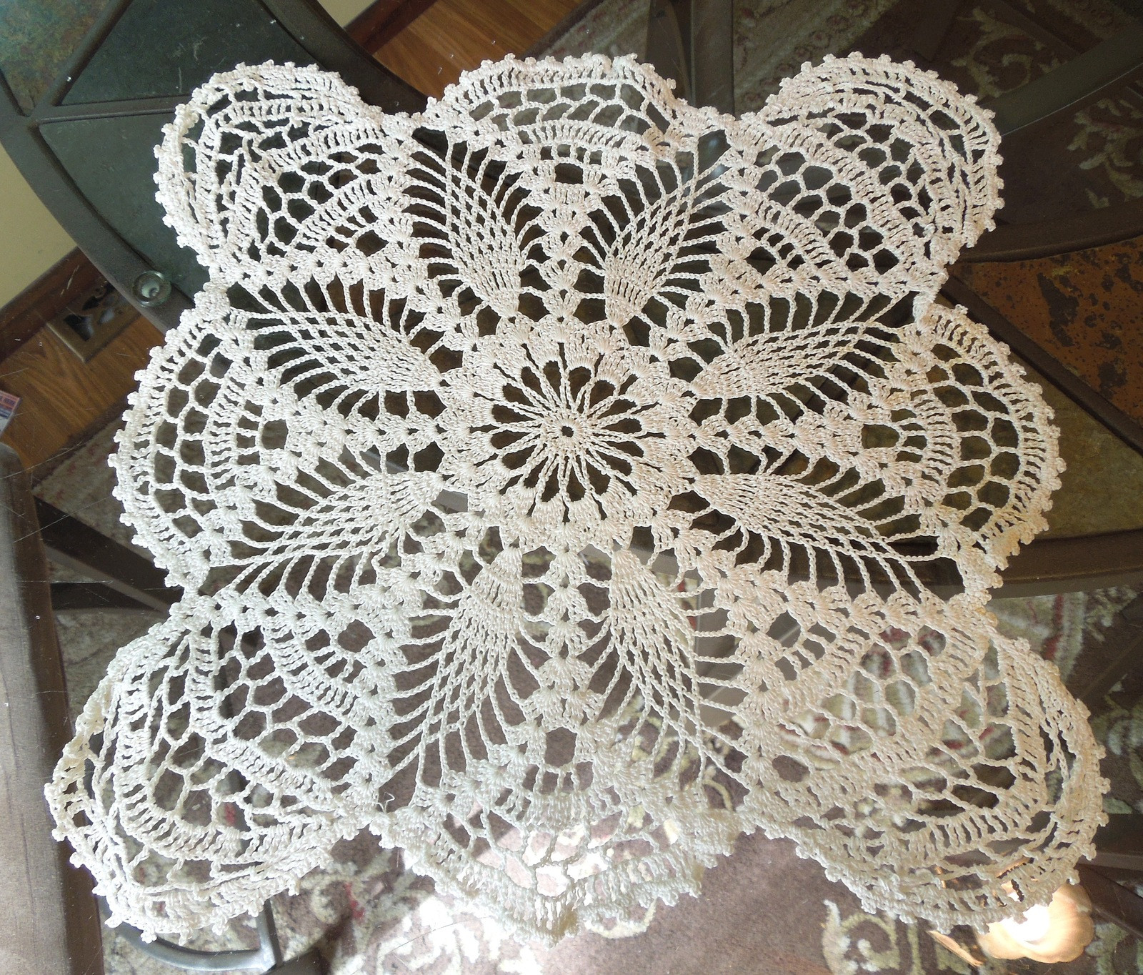 "Luxury Vintage Doily Hand Crocheted 15"" Vintage White Vintage Crochet Of Perfect 44 Models Vintage Crochet"