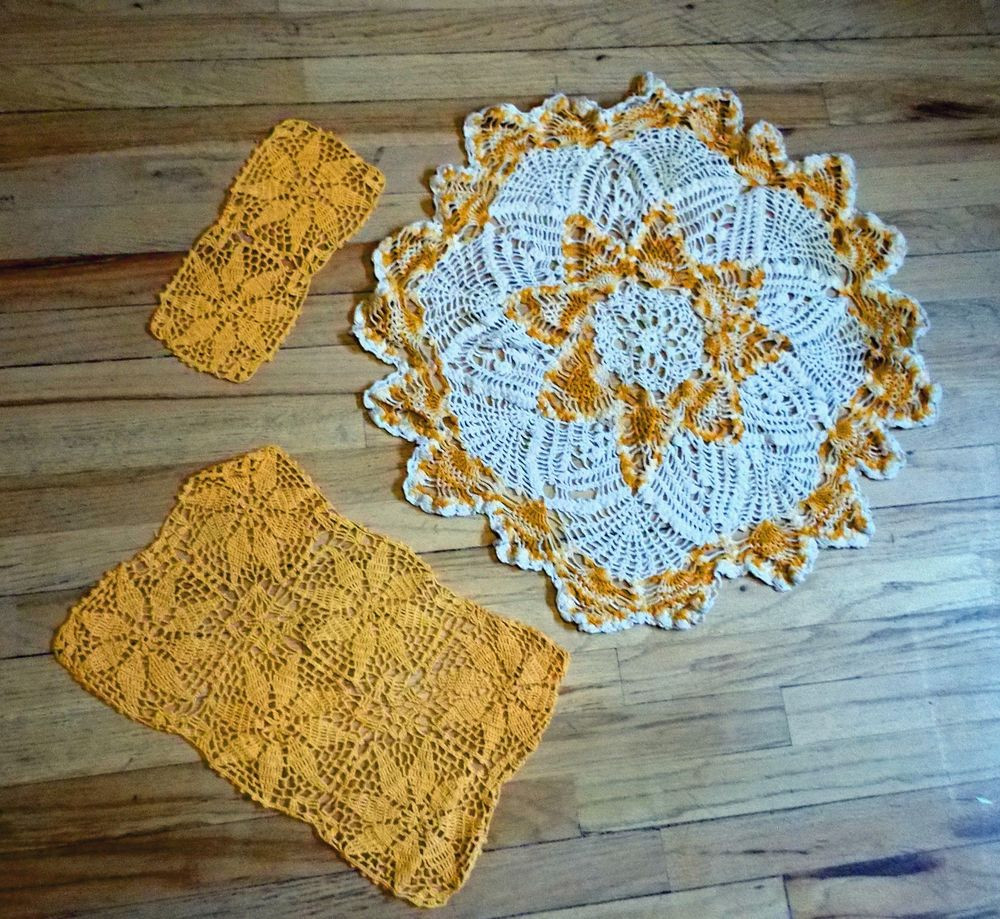 Luxury Vintage Handmade Hand Crocheted orange Doilies Table Handmade Crochet Of Delightful 40 Pics Handmade Crochet