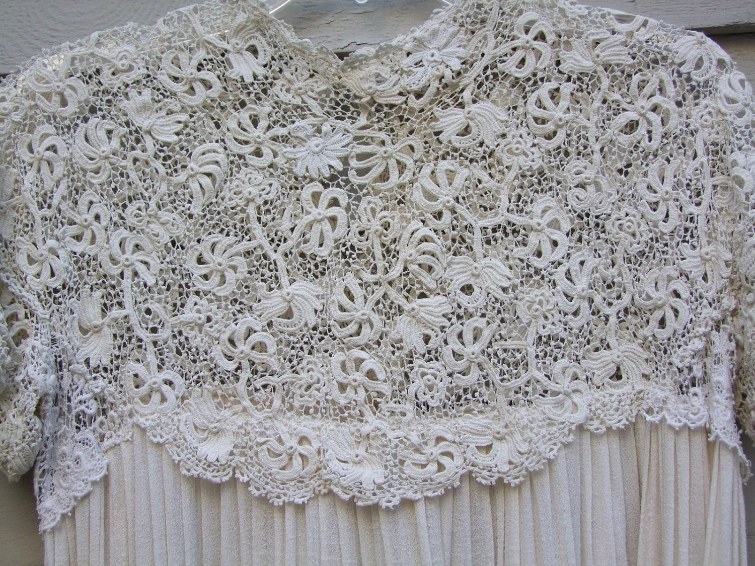 Luxury Vintage Irish Crochet Lace and Silk Blend Fabric Dress Ala Crochet Lace Fabric Of Attractive 45 Images Crochet Lace Fabric
