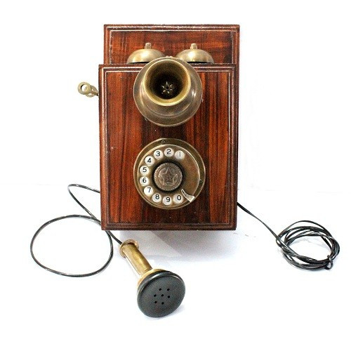 Vintage Look Wall phone Rotary Dial Antique Finish Telephone
