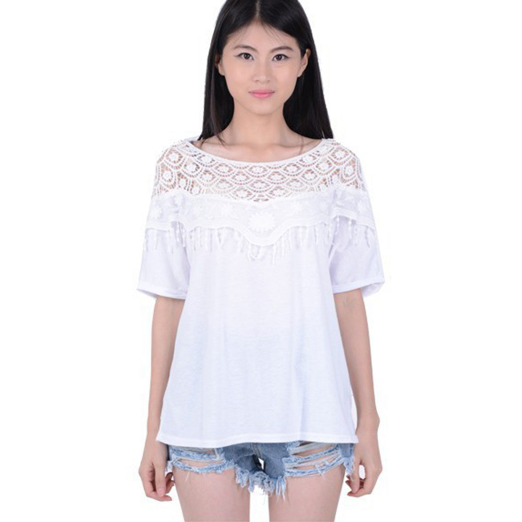 Luxury Women F Shoulder Splice Lace Crochet Floral Batwing Crochet Shirts Of Brilliant 43 Ideas Crochet Shirts