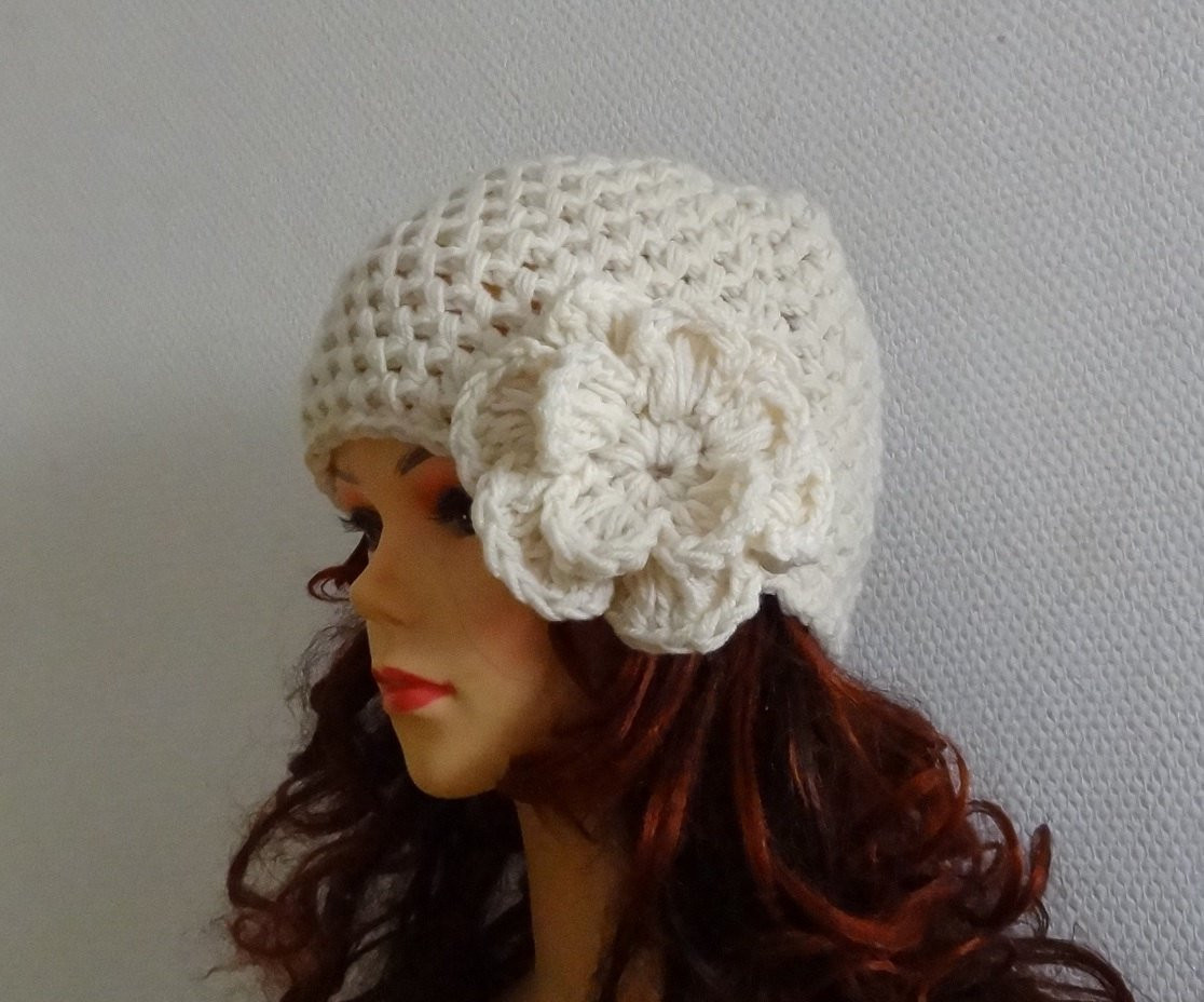 Luxury Women S Crochet Hat with Crochet Flower Womens Hats by Ladies Crochet Hats Of Contemporary 46 Pics Ladies Crochet Hats