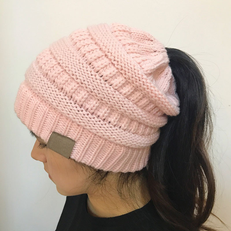 Luxury Women Stretch Knitted Beanie Hat Messy High Bun Ponytail Beanie with Bun Hole Of Amazing 46 Photos Beanie with Bun Hole