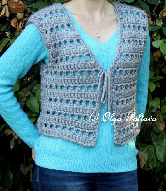 Luxury Womens Chunky Vest Crochet Pattern Size Small Medium Easy Womens Crochet Vest Of Amazing 47 Pics Womens Crochet Vest