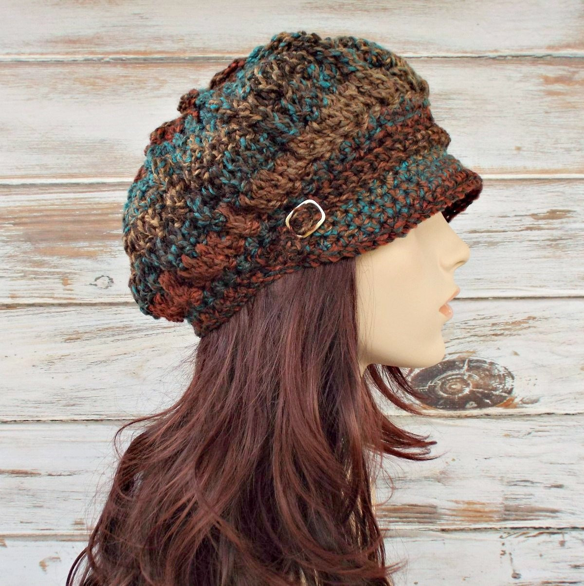 Womens Crochet Hat Womens Hat Newsboy Hat Spring by pixiebell