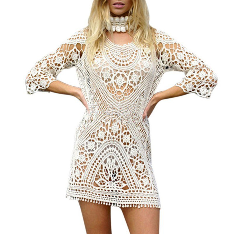 Luxury Y Crochet Beach Dress Women Casual Knitted Lace Summer White Crochet Beach Dress Of Brilliant 42 Pics White Crochet Beach Dress