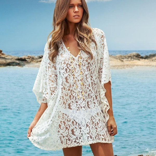Luxury Y White Lace Beach Cover Up Dress Summer Swimwear White Crochet Cover Ups Of Charming 44 Pics White Crochet Cover Ups