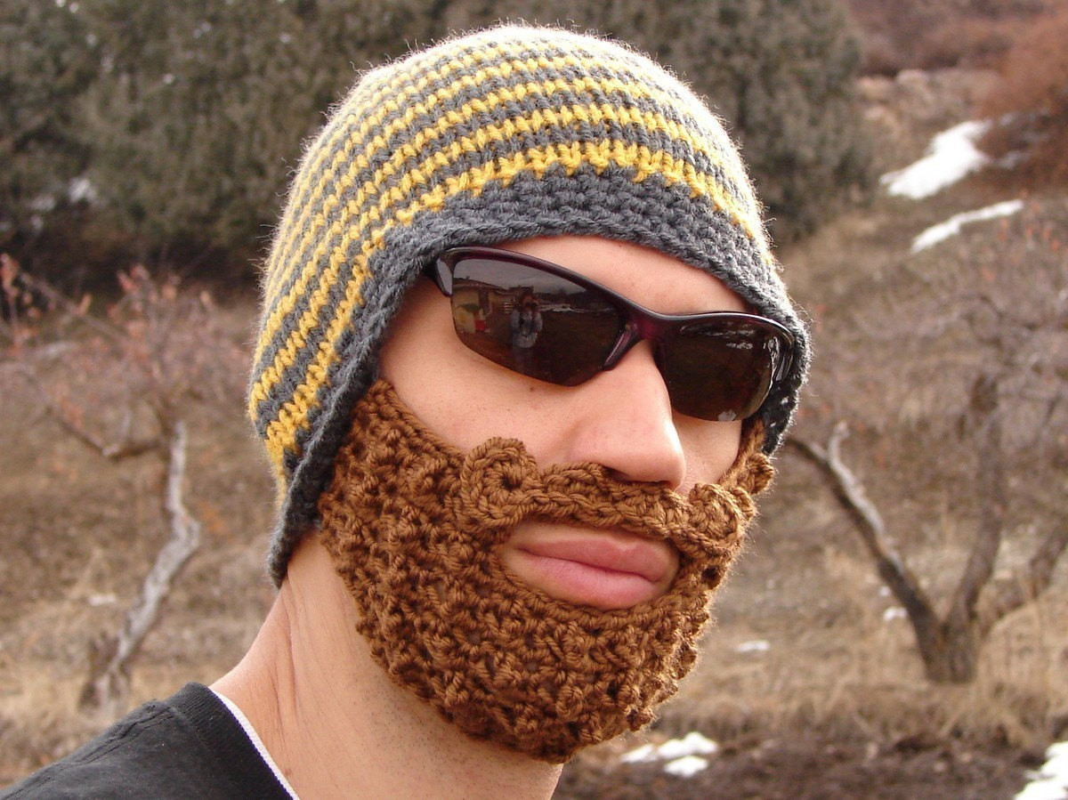 Luxury Yellow and Gray Striped Bearded Beanie Beard Hat Crochet Pattern Of Contemporary 40 Photos Beard Hat Crochet Pattern