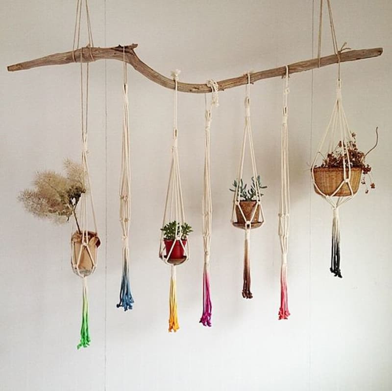 Macrame Plant Hanger Fresh Macrame Plant Hanger Patterns to Embellish Any Rustic or Of Attractive 42 Pics Macrame Plant Hanger