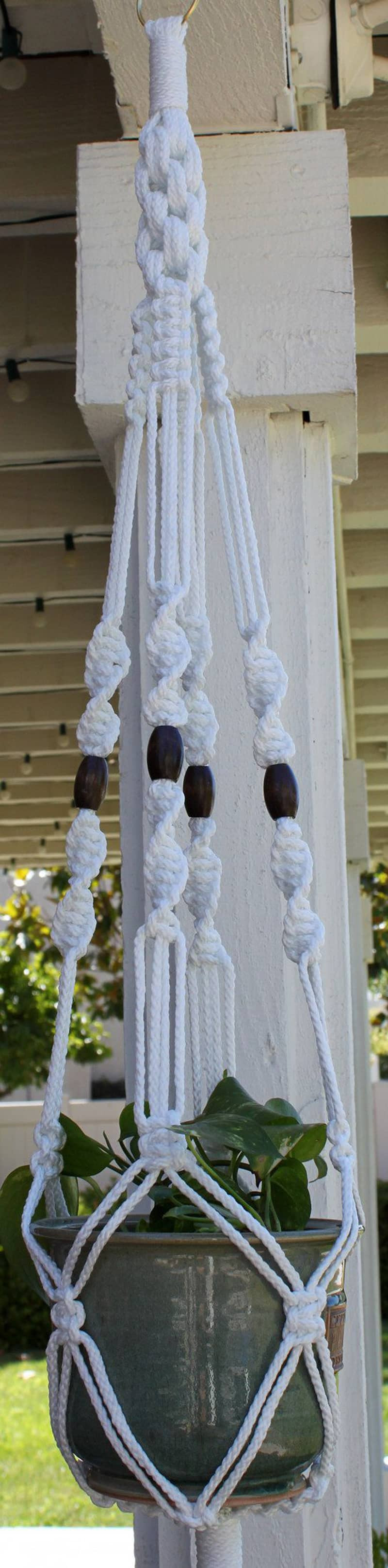 Macrame Plant Hanger Unique Macrame Plant Hanger Patterns to Embellish Any Rustic or Of Attractive 42 Pics Macrame Plant Hanger