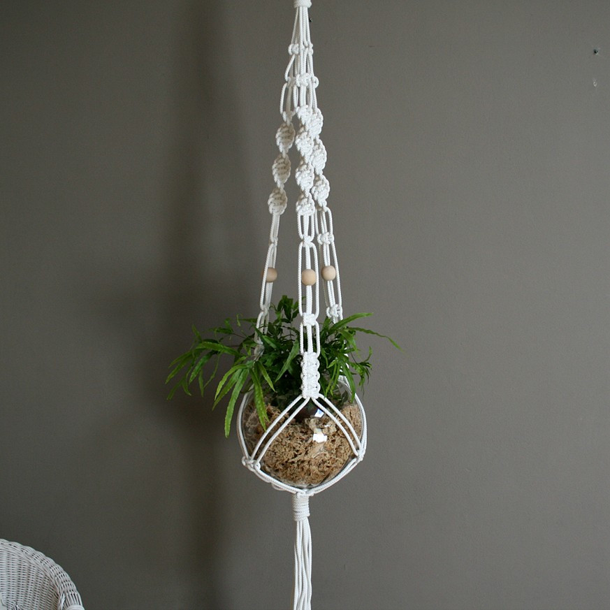 Macrame Plant Hanger Holder Cotton Hanging Planter Pot