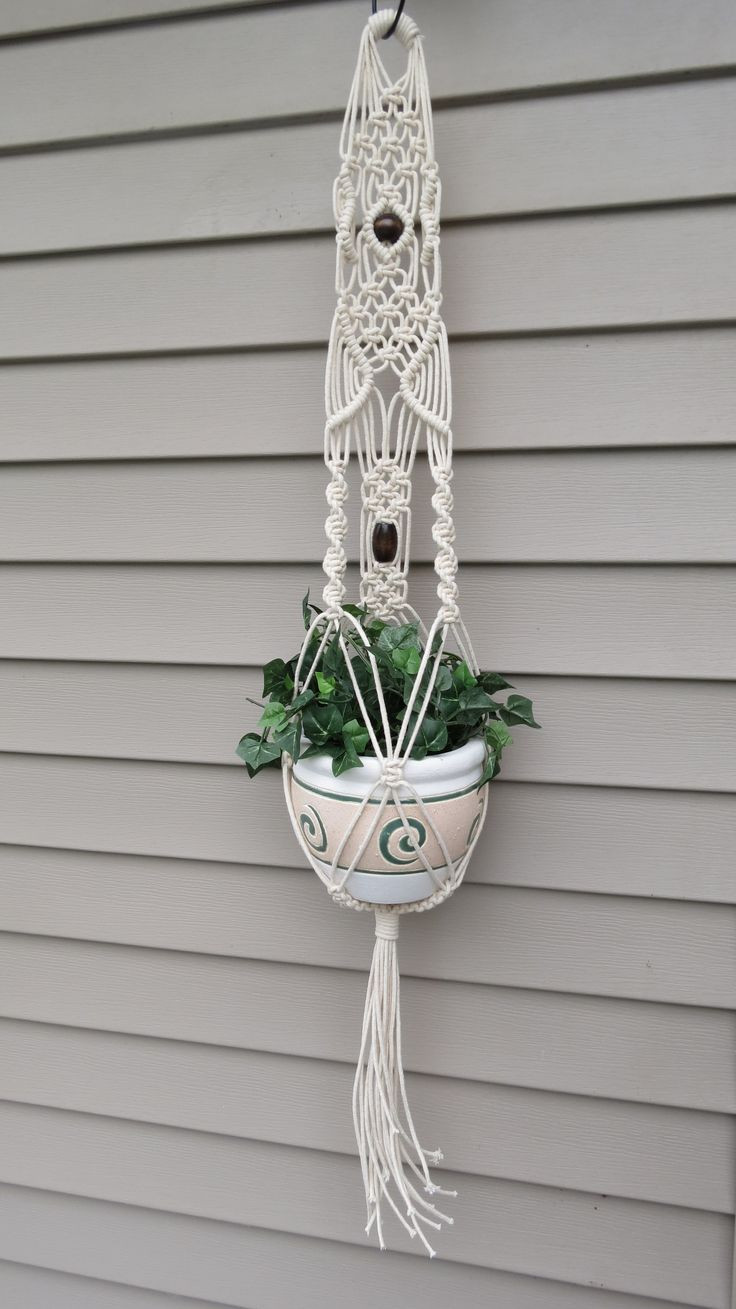 Macrame Plant Holder Lovely Macrame Plant Hanger Modern Hanging Planter Long White Of Luxury 45 Images Macrame Plant Holder