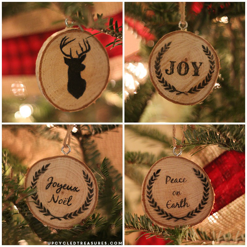 Make Your Own Christmas ornaments Lovely Diy Wood Slice Christmas ornaments Upcycled Treasures Of Innovative 44 Pics Make Your Own Christmas ornaments