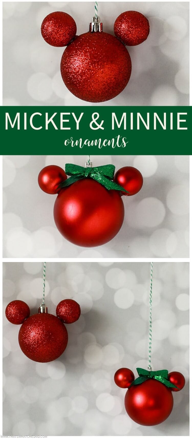 easy diy mickey mouse ornament