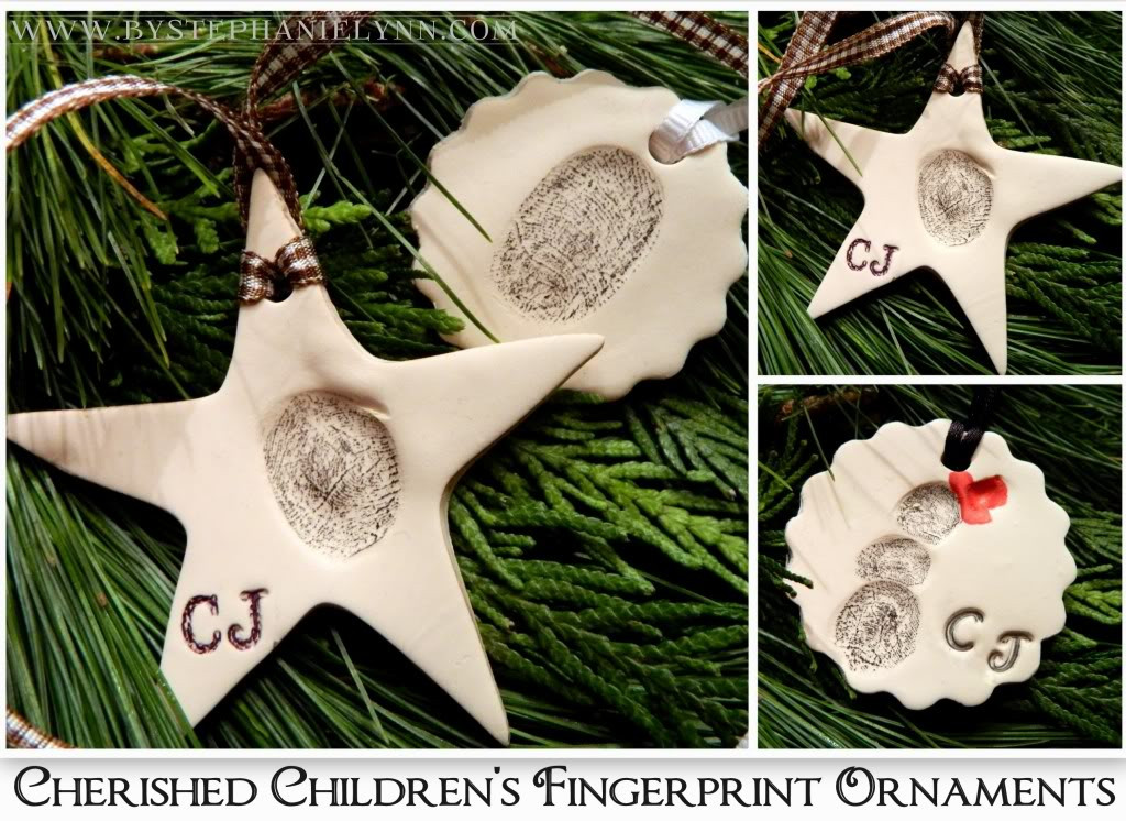 Make Your Own Cherished Children s Fingerprint Ornaments