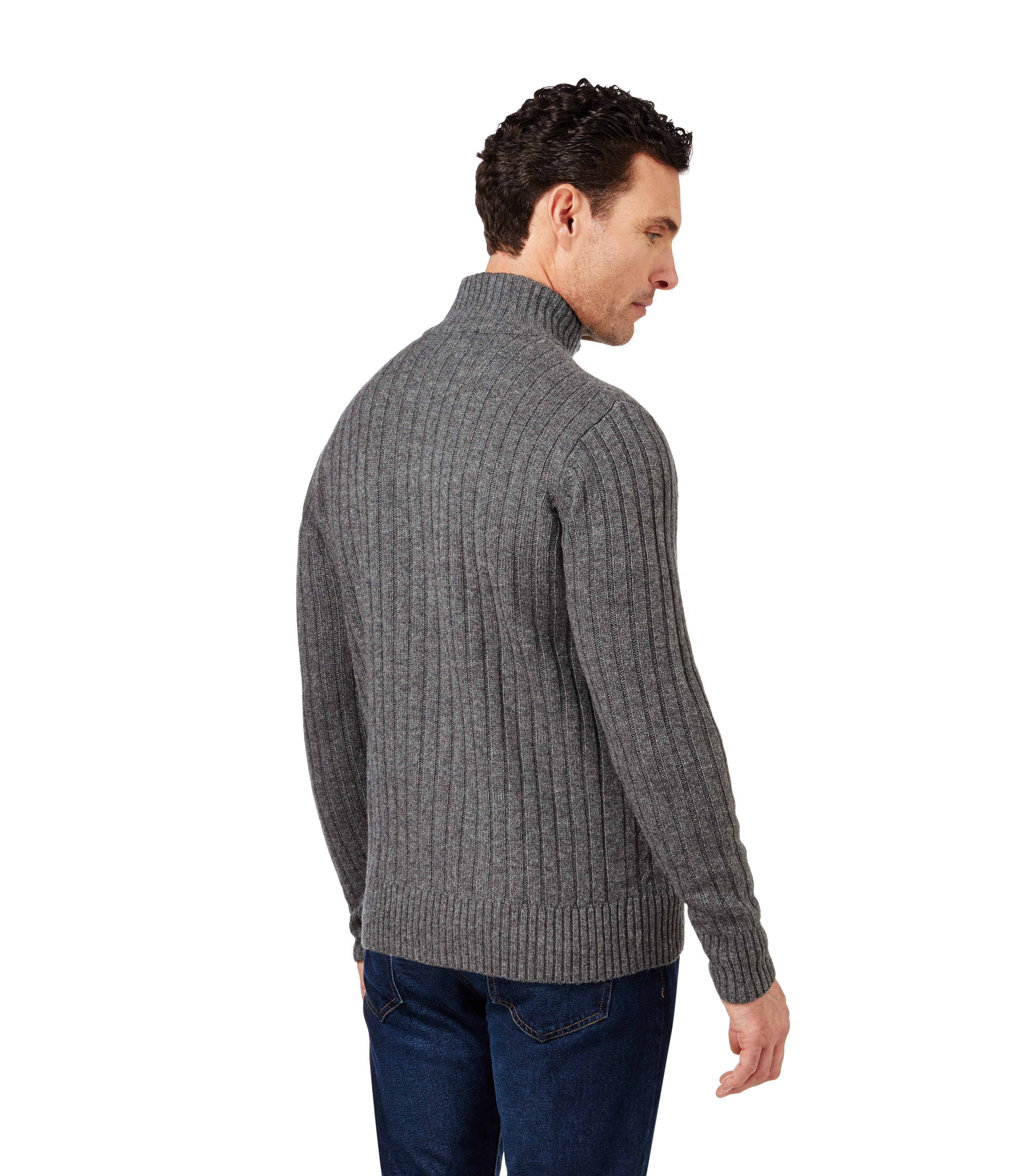 Mens Cable Knit Cardigan Fresh Mid Grey Marl Pure Lambswool Of New 45 Models Mens Cable Knit Cardigan