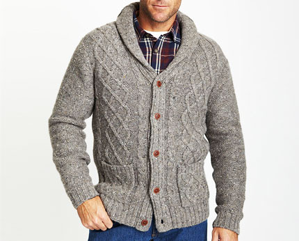Mens Cable Knit Cardigan Lovely Chunky Cable Knit Cardigan Grey Lookcubes Affordable Of New 45 Models Mens Cable Knit Cardigan