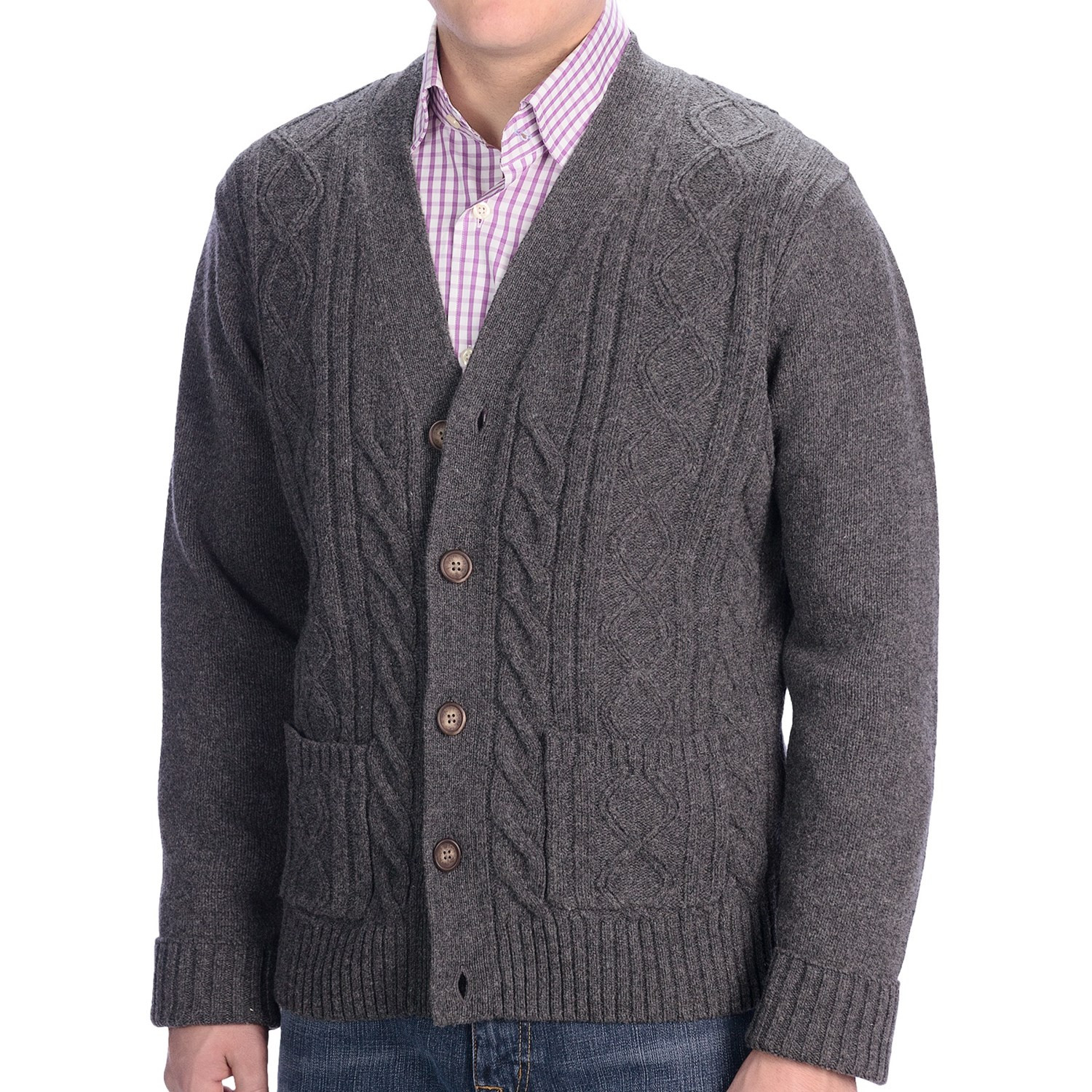 Mens Cable Knit Cardigan Unique Wool Cableknit Sweater Gray Cardigan Sweater Of New 45 Models Mens Cable Knit Cardigan