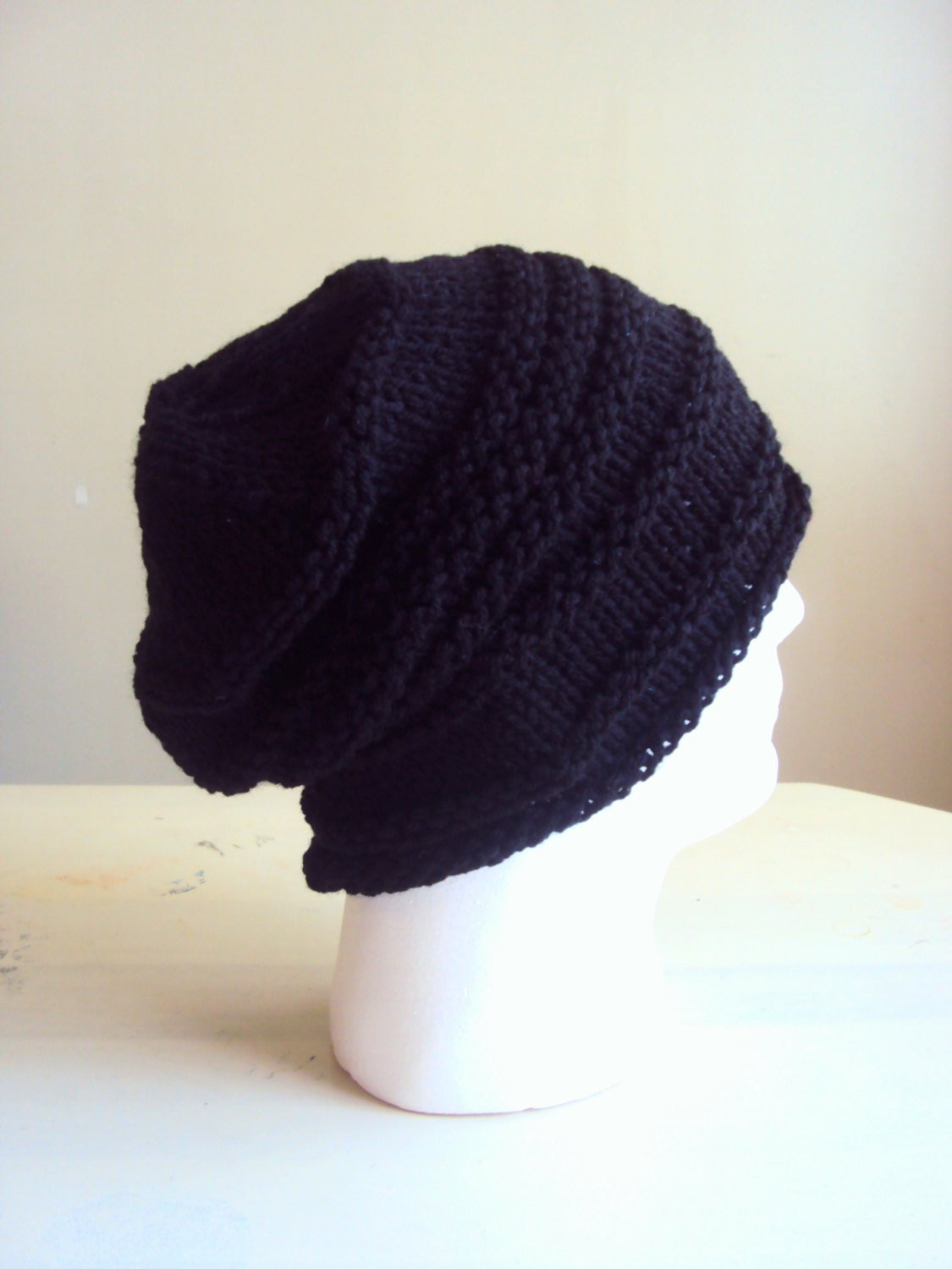 Mens Knit Beanie Beautiful Mens Slouchy Beanie Knit Hat Dreadlock Hat Rasta Hat Black Of Attractive 42 Images Mens Knit Beanie
