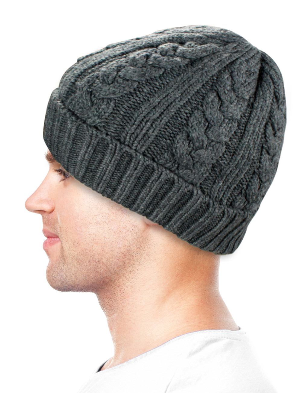 Mens Knit Beanie Fresh Men S Cable Knit solid Color Wool Blend Beanie Hat Of Attractive 42 Images Mens Knit Beanie