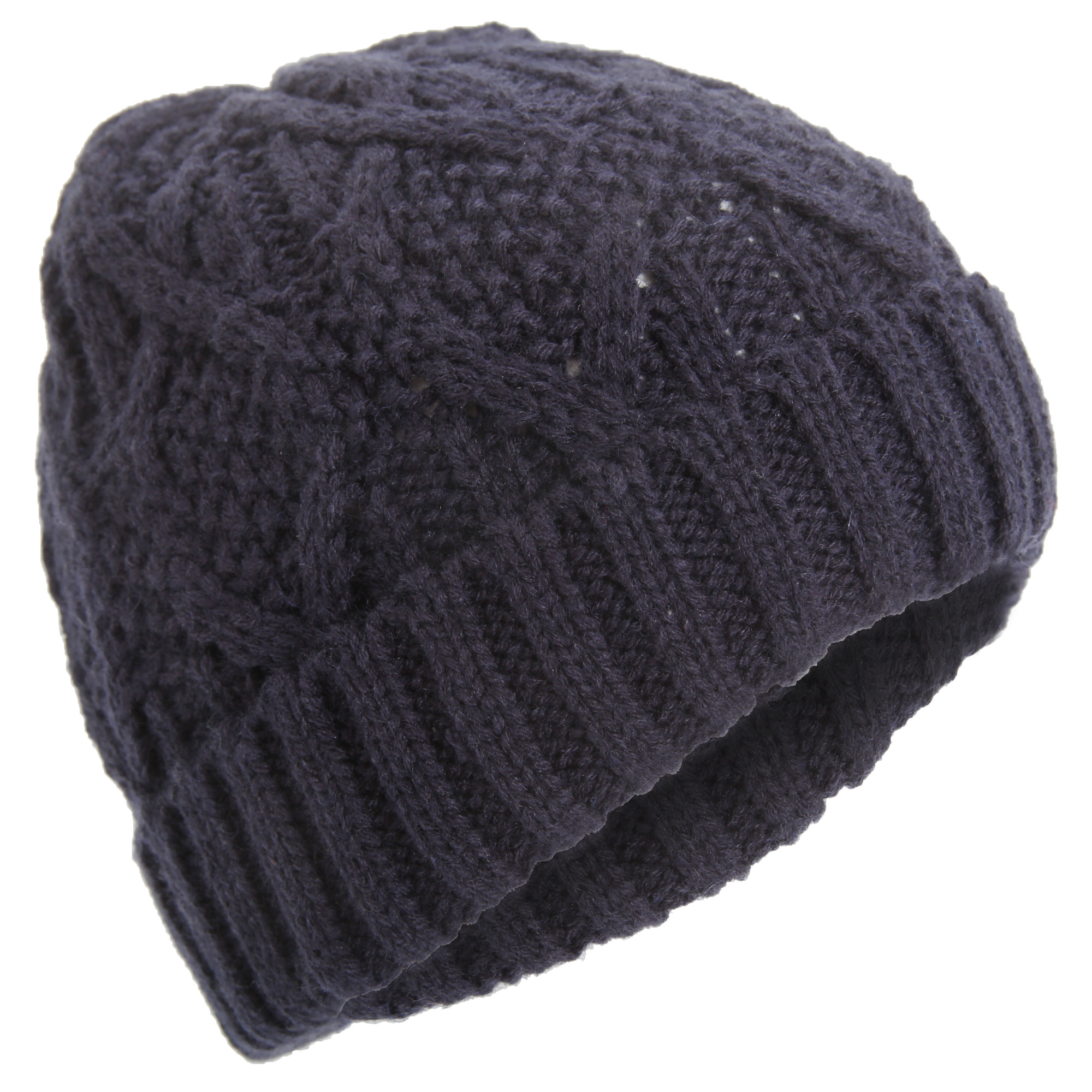Mens Classic Cable Knit Winter Beanie Hat