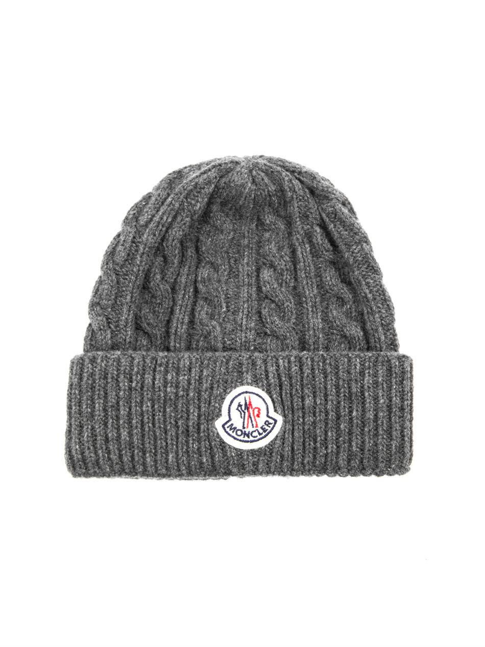 Mens Knit Beanie Luxury Moncler Cable Knit Beanie In Gray for Men Save Of Attractive 42 Images Mens Knit Beanie