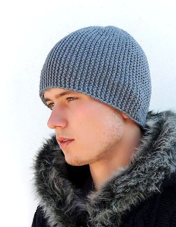 Mens Knit Beanie Unique Grey Warm Mens Knitted Hat Winter Hat Men S Knit Hat by Of Attractive 42 Images Mens Knit Beanie