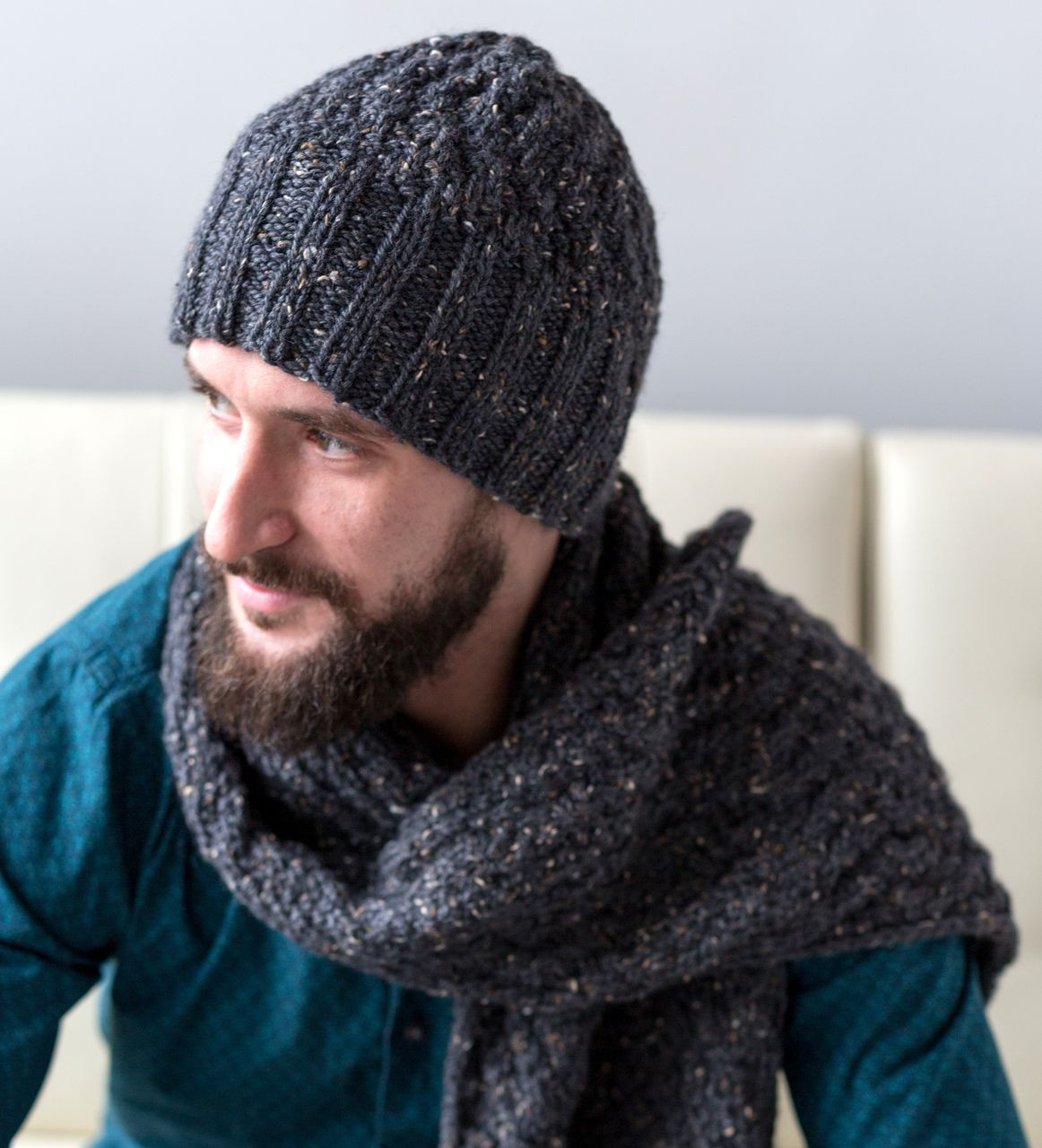 Men s Cable Hat and Scarf