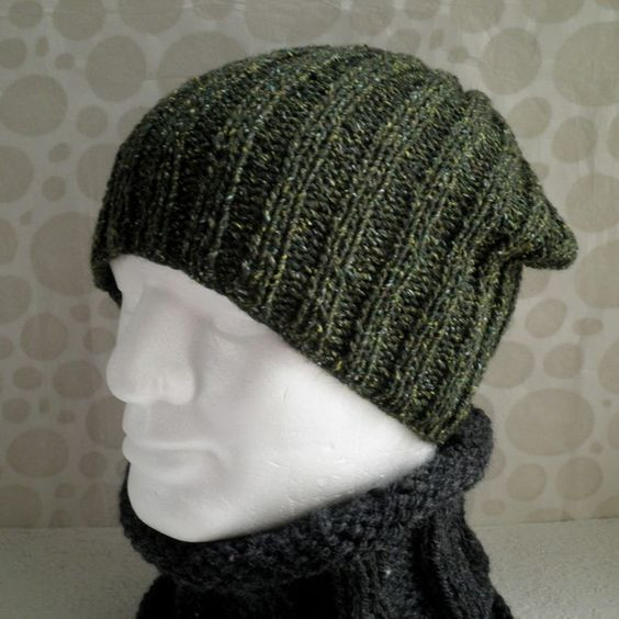 Mens Knit Hat Pattern Inspirational Nathan Knitting Pattern for Seattle Slouchy Ribbed Hat for Of Fresh 43 Photos Mens Knit Hat Pattern