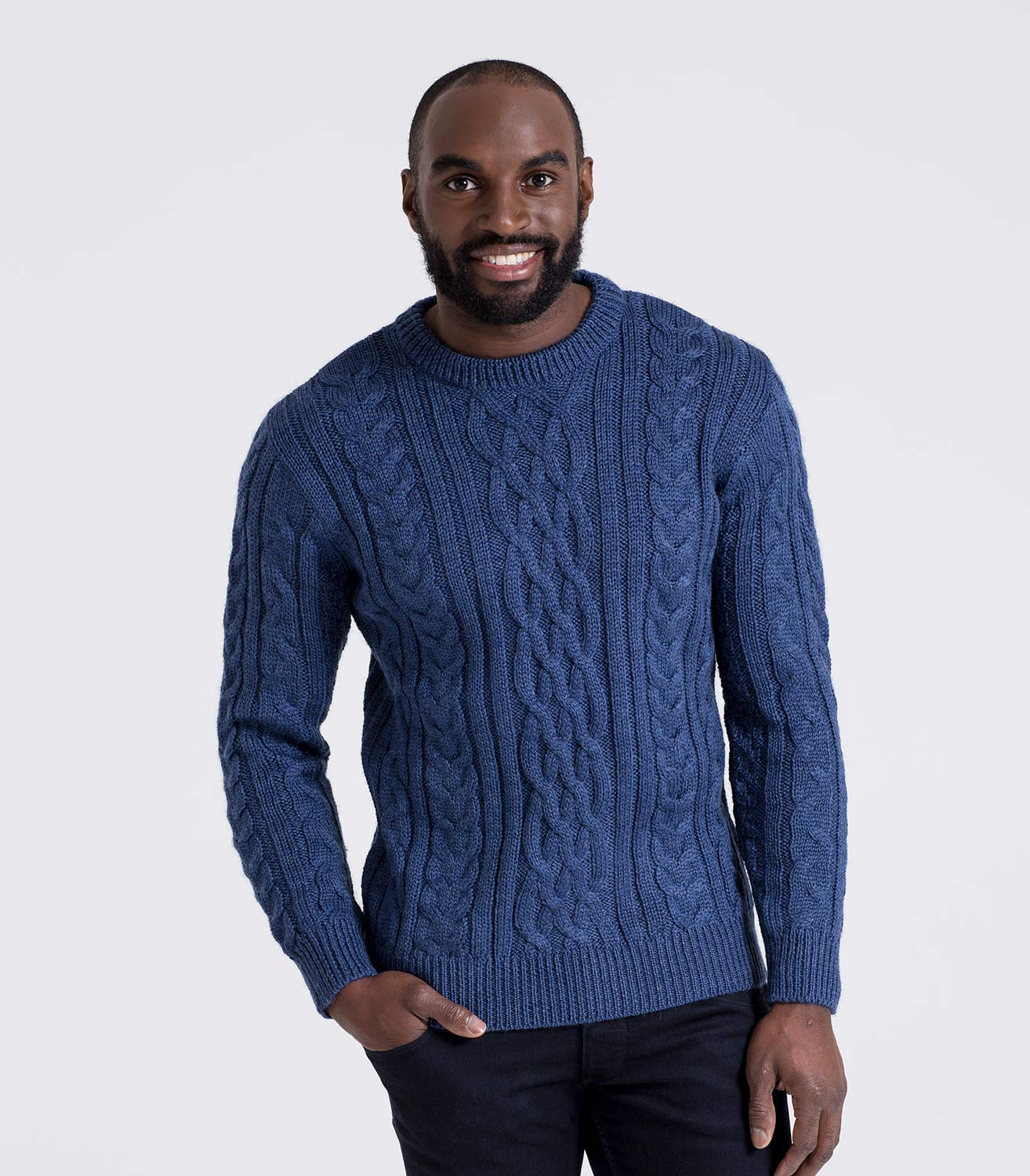 Mens Knit Sweater Best Of French Navy Pure Wool Aran Jumper Of Perfect 42 Pictures Mens Knit Sweater