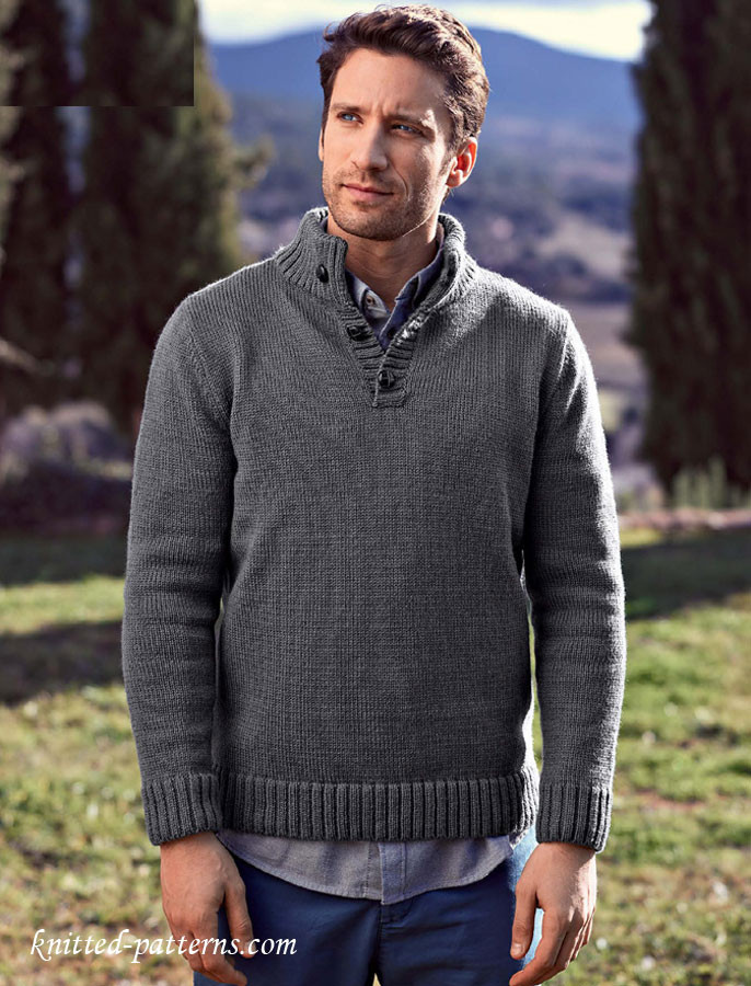 Mens Knit Sweater Fresh button Neck Sweater Knitting Pattern Free Of Perfect 42 Pictures Mens Knit Sweater