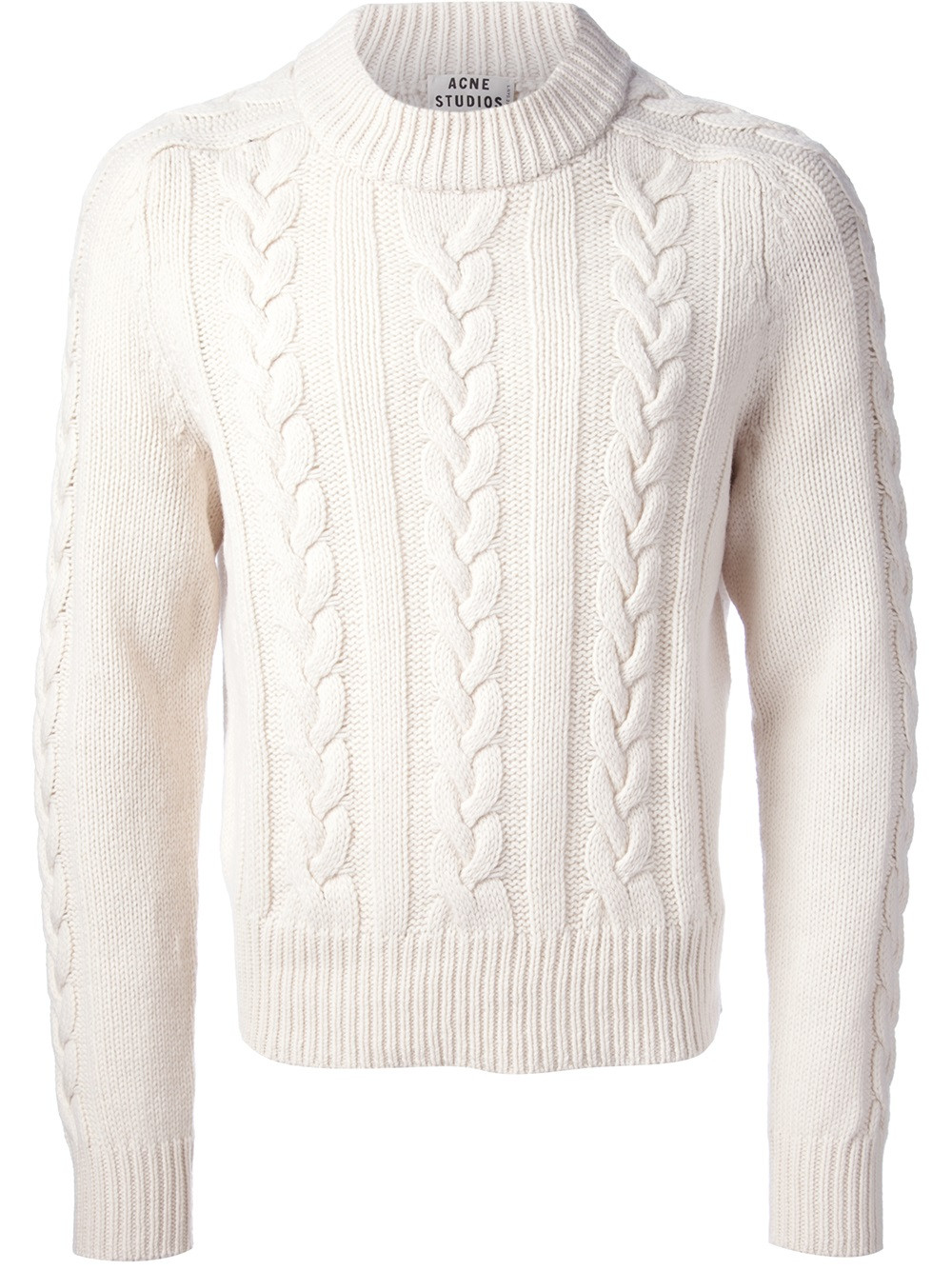 Mens Knit Sweater Fresh Lyst Acne Studios Brent Cable Knit Sweater In White for Men Of Perfect 42 Pictures Mens Knit Sweater