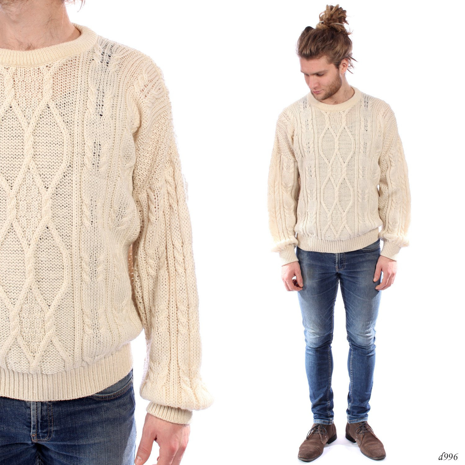 Mens Knit Sweater Lovely Mens Aran Sweater Loose Fit Cable Knit Jumper Fisherman Of Perfect 42 Pictures Mens Knit Sweater