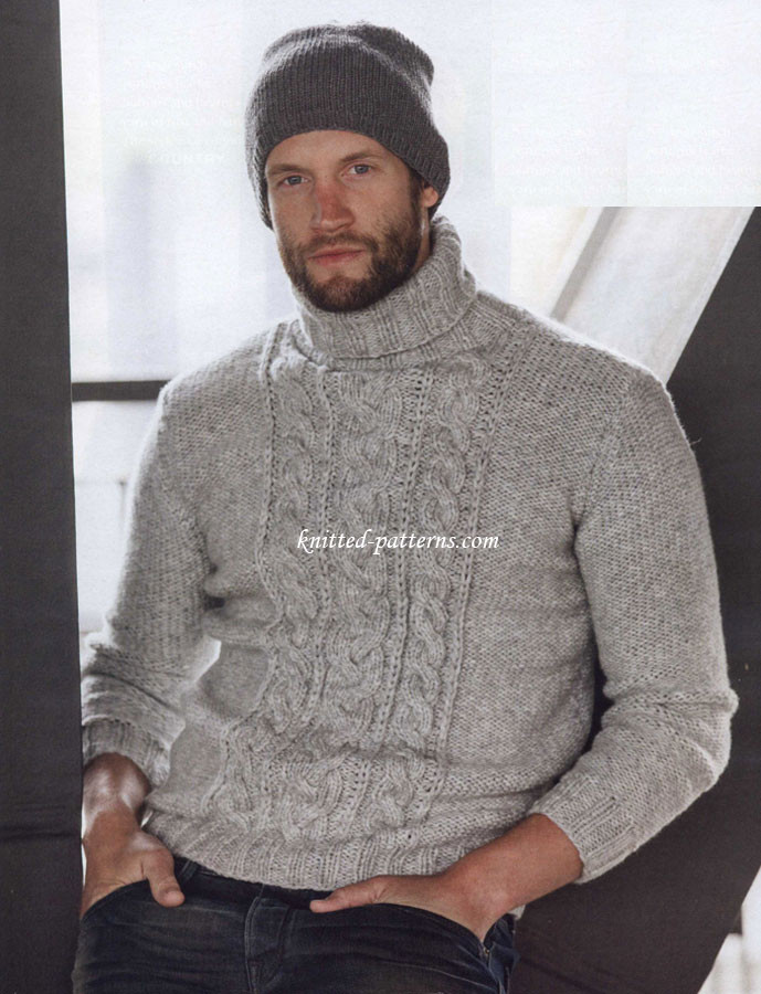 Men s pullovers and sweaters knitting patterns