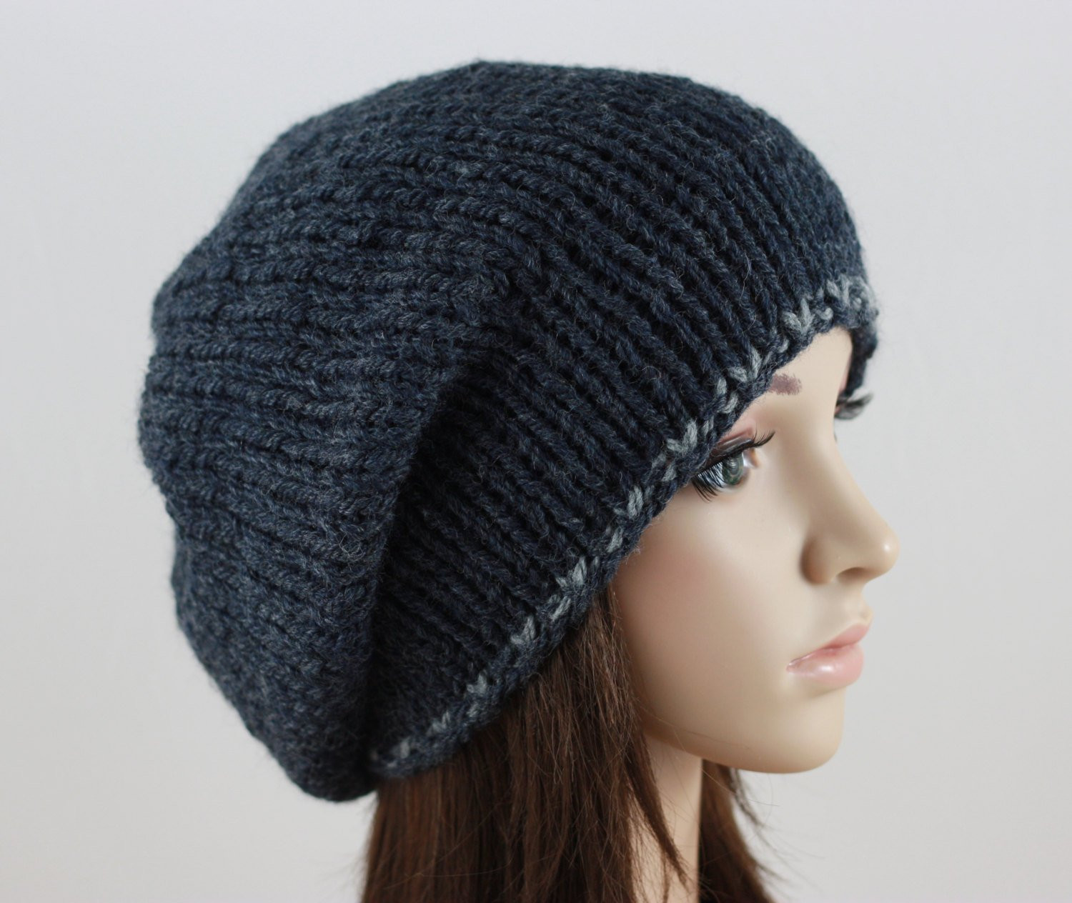Slouchy Beanie Mens Hat Lightweight Chunky Hat Womens Hat