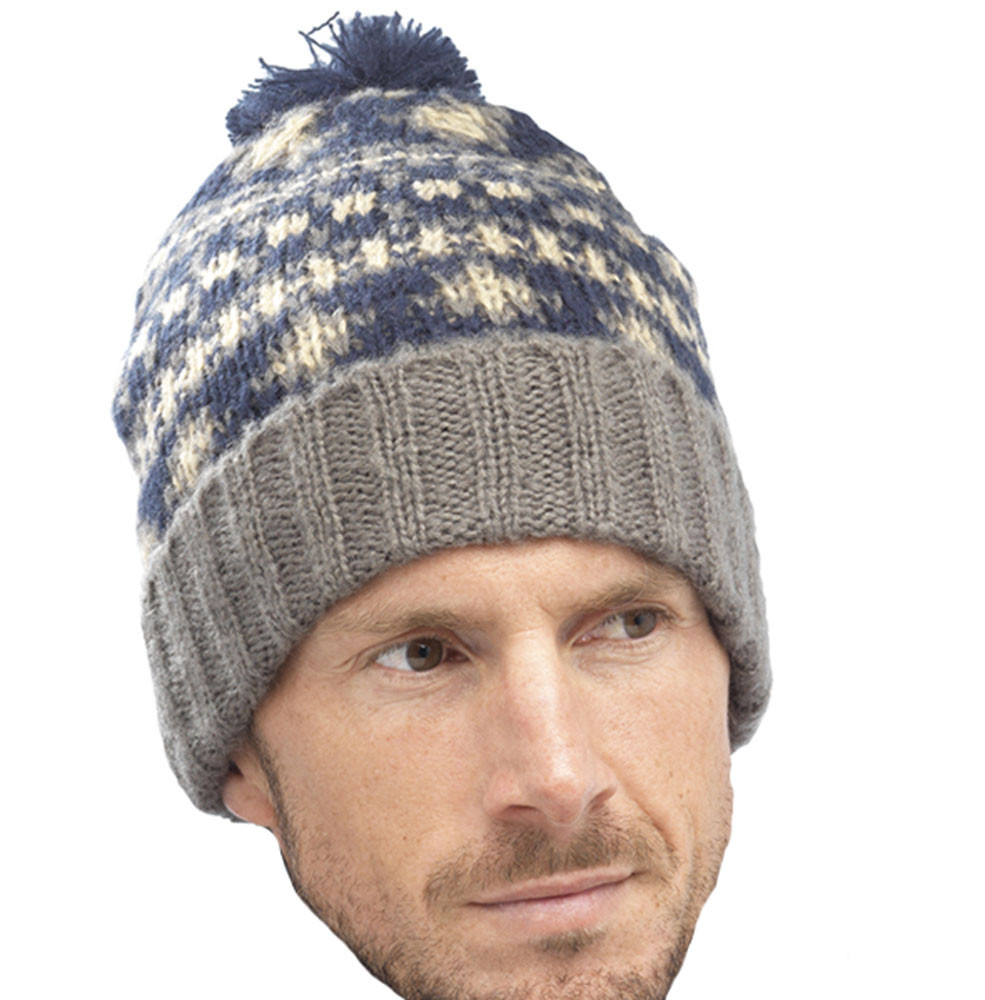 Mens Winter Hats Awesome Mens Fairisle Design Chunky Knitted Warm Winter Bobble Of Great 48 Images Mens Winter Hats