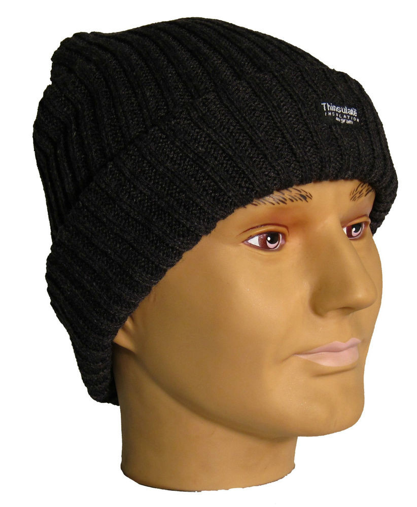 Mens Winter Hats Best Of Mens Chunky Knitted thermal Ski Beanie Black Hat Of Great 48 Images Mens Winter Hats