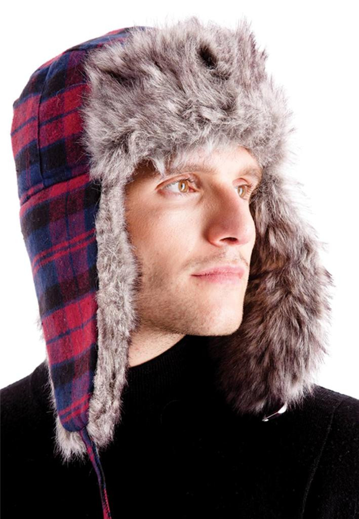 Mens Winter Hats Inspirational Mens Trapper Hat Russian Style Faux Fur Warm Winter Flap Of Great 48 Images Mens Winter Hats
