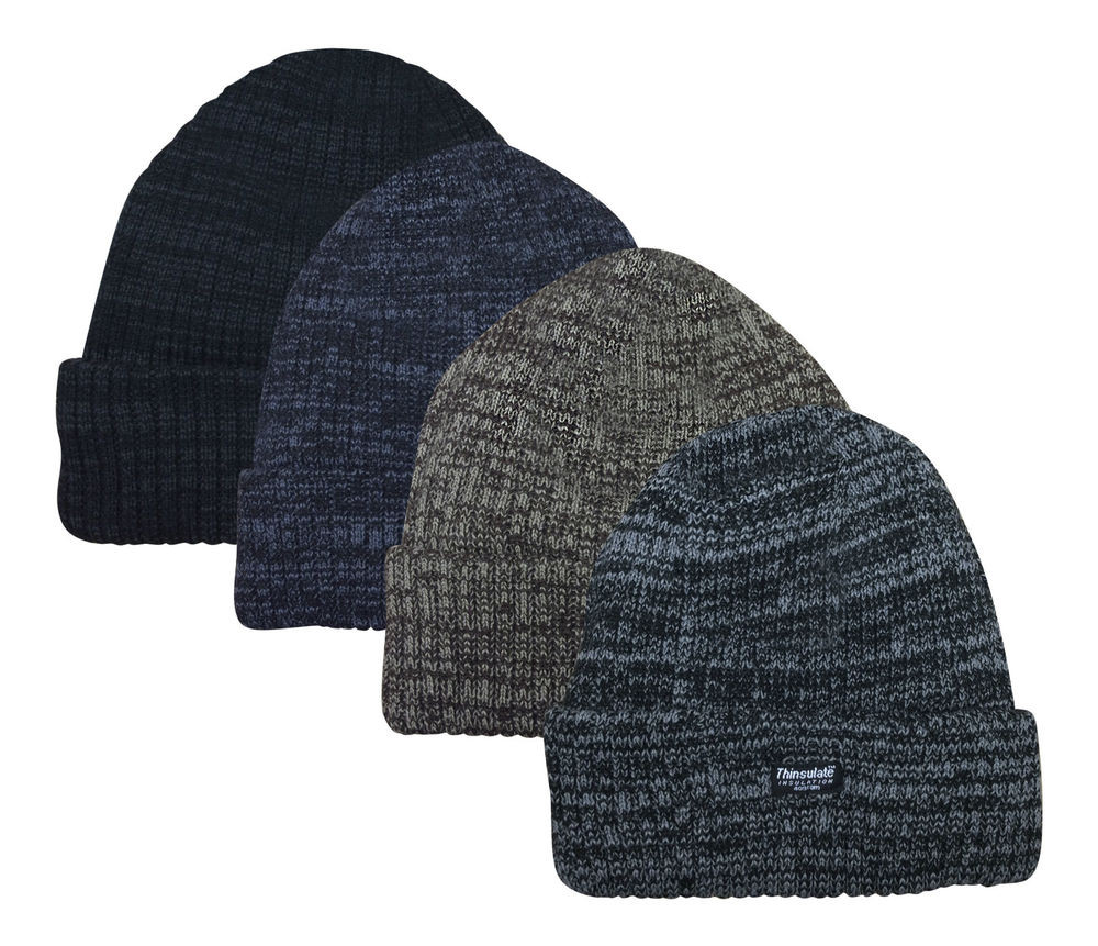 Mens Thinsulate Thermal Winter Beanie Hat e Size