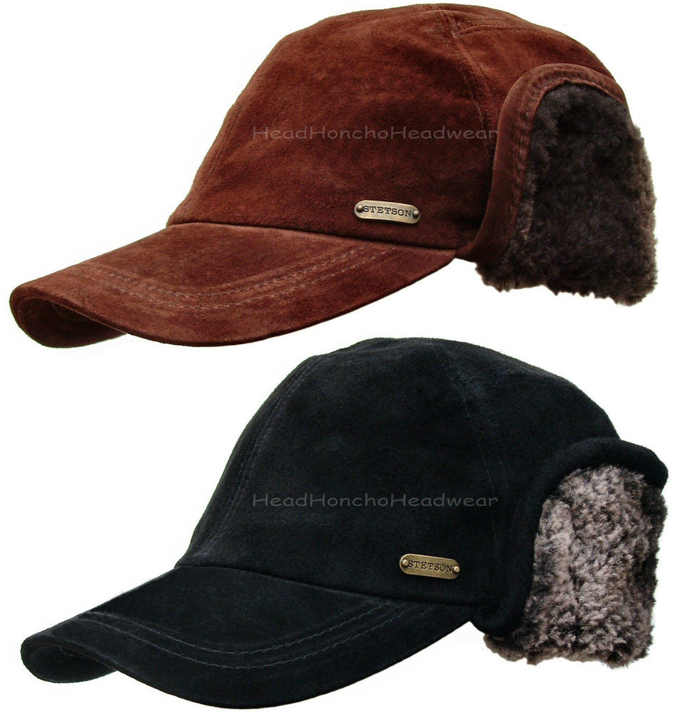 Mens Winter Hats Unique Stetson Suede Leather Winter Ear Flap Hat Men Hunting Of Great 48 Images Mens Winter Hats