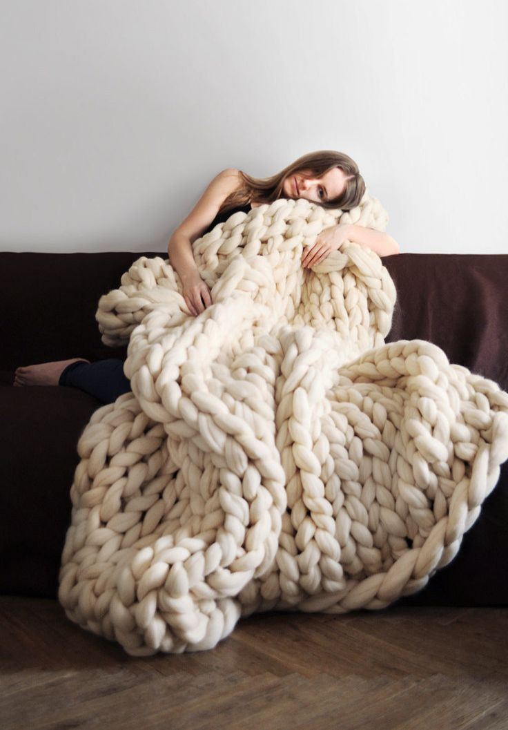 Merino Wool Awesome Giant Knit Merino Wool Blanket Ohhio On Etsy Of Lovely 45 Photos Merino Wool