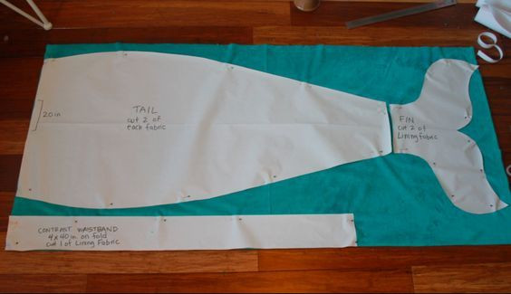 Learn to sew a Mermaid Tail Blanket Free printable