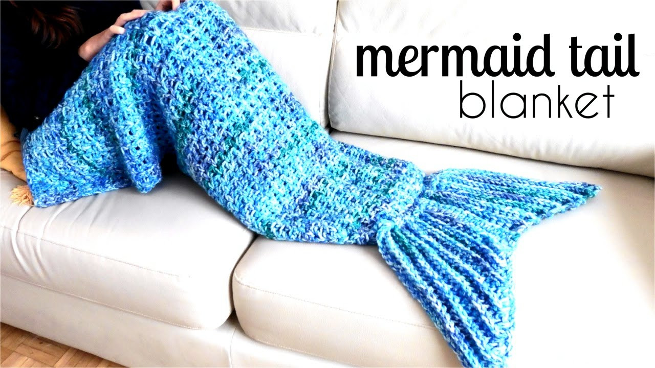 Mermaid Blanket Pattern Lovely [video Tutorial] This Awesome Mermaid Tail Blanket is An Of Mermaid Blanket Pattern Fresh Mermaid Tail Snuggle Blanket Knitting Pattern by Caroline