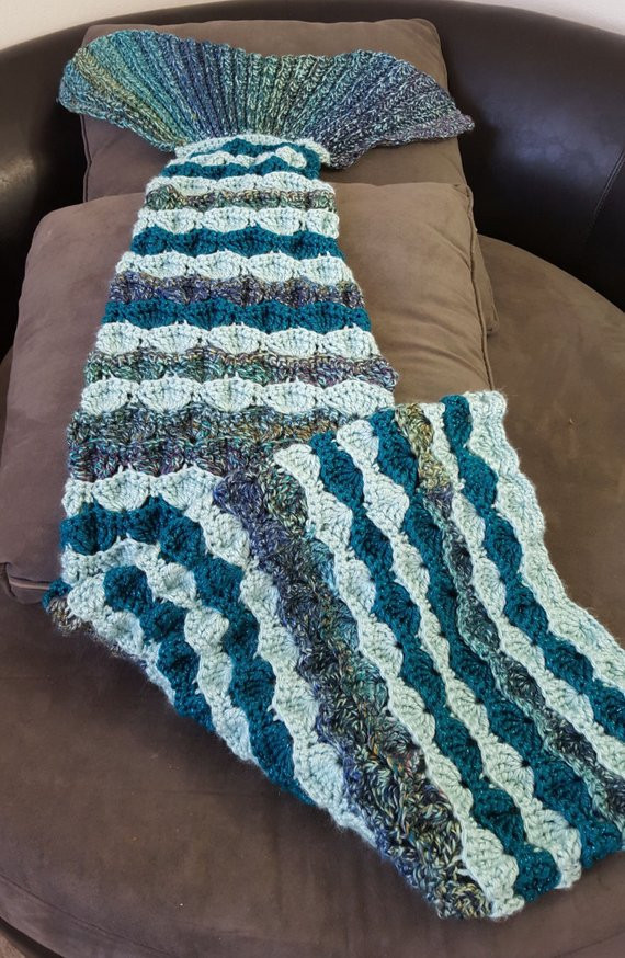 mermaid tail blanket pattern adult size