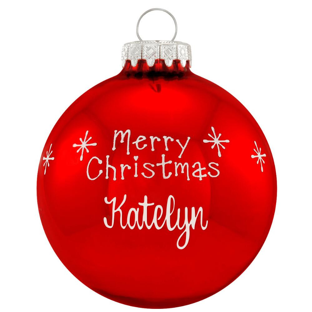 Merry Christmas ornament Fresh Personalized Red Merry Christmas Glass ornament Of Unique 46 Models Merry Christmas ornament