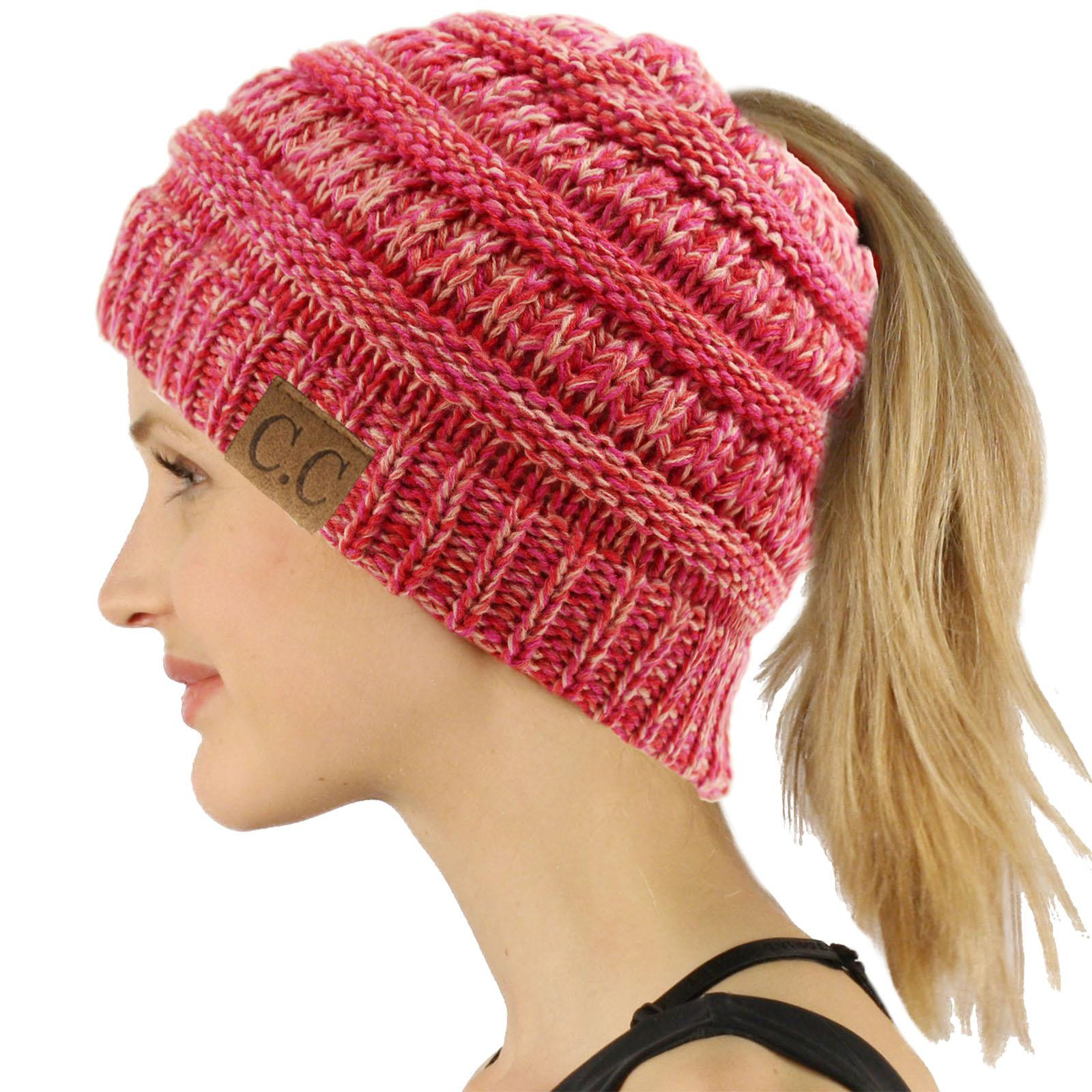 Messy Bun Beanie Hat Awesome Cc Beanietail Messy High Bun Ponytail Stretchy Knit Beanie Of Brilliant 47 Photos Messy Bun Beanie Hat