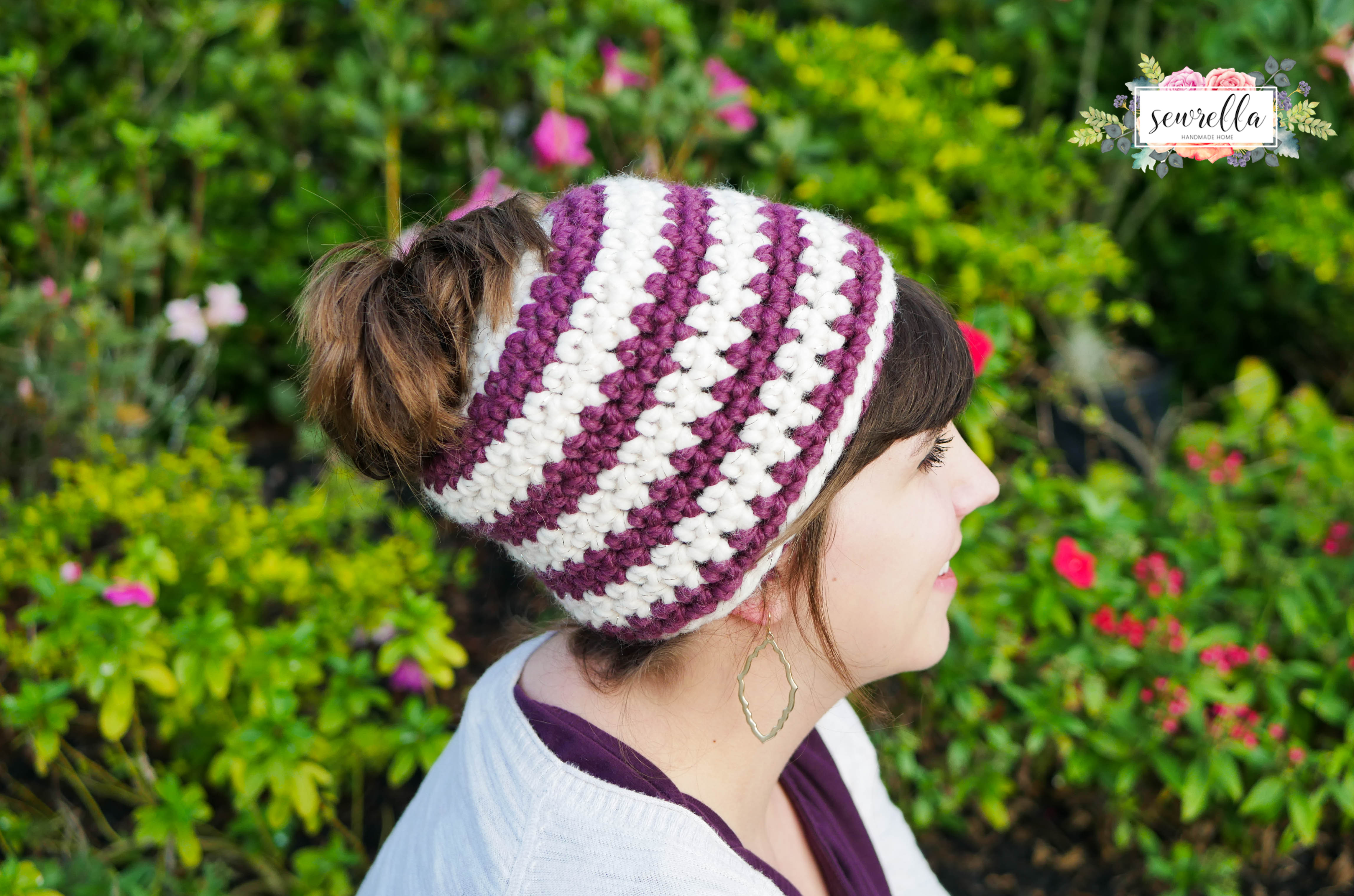 Messy Bun Beanie Hat Fresh Crochet 1 Hour Messy Bun Beanie Sewrella Of Brilliant 47 Photos Messy Bun Beanie Hat