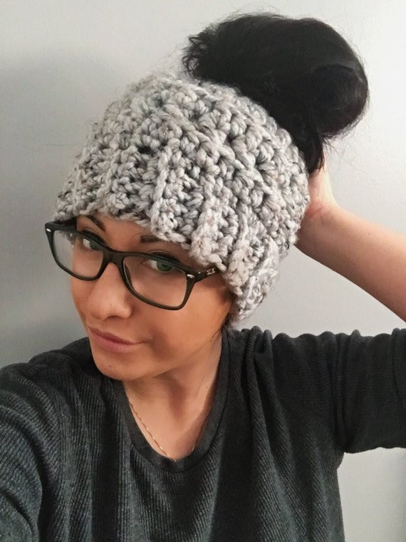 Messy Bun Beanie Hat Inspirational Crochet Messy Bun Beanie Wmperm for Of Brilliant 47 Photos Messy Bun Beanie Hat