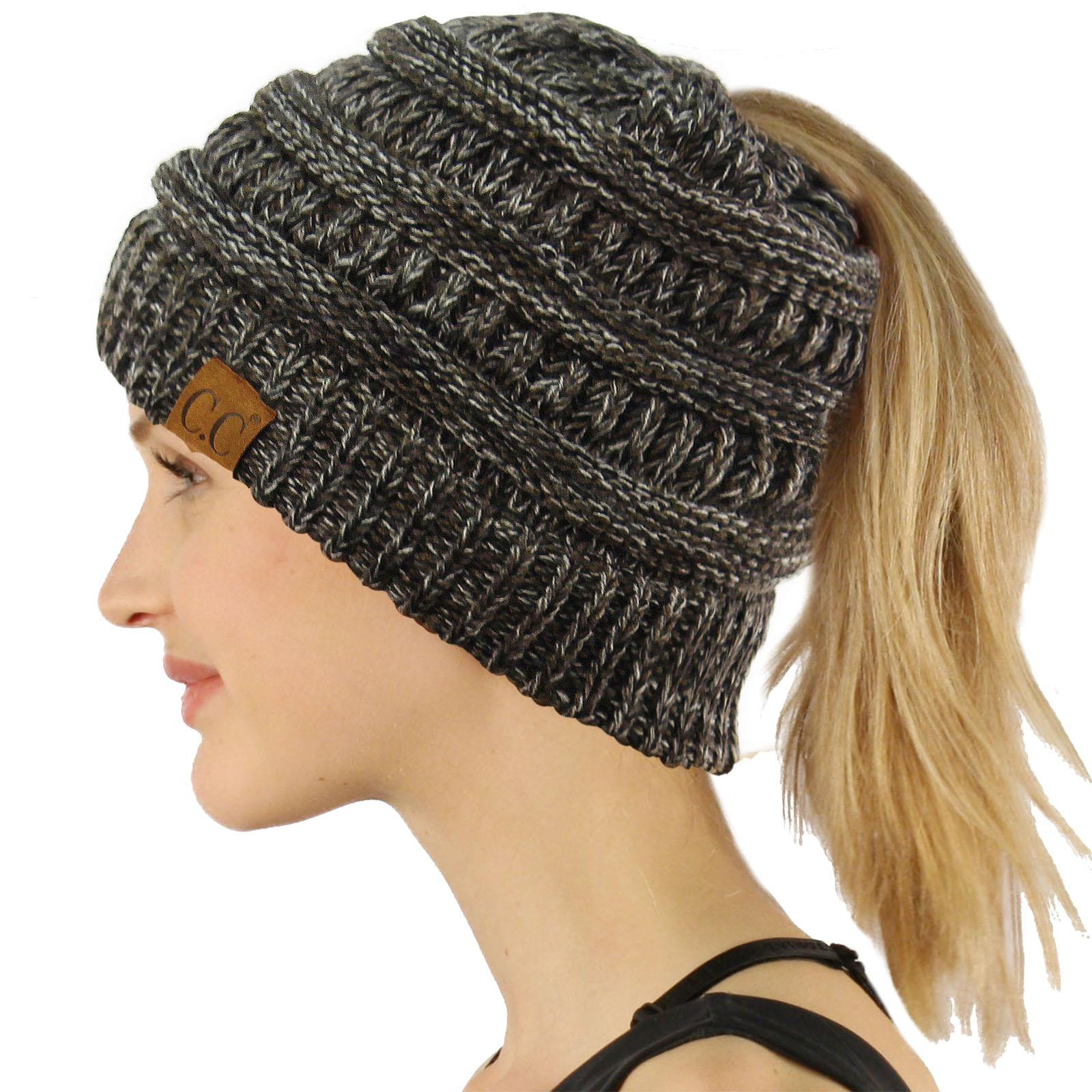Messy Bun Beanie Hat Luxury Cc Beanietail Messy High Bun Ponytail Stretchy Knit Beanie Of Brilliant 47 Photos Messy Bun Beanie Hat